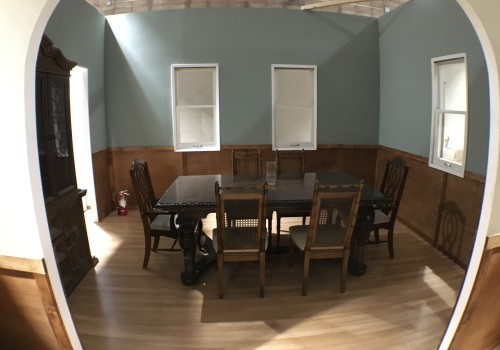 Dual Visions Stages - DV Stages - Film Stage - Los Angeles - 2-Story Standing House Set - Dining Room Set