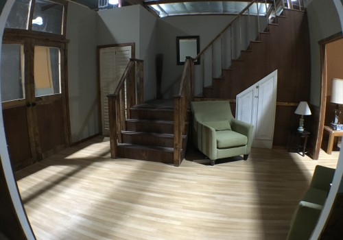 Dual Visions Stages - DV Stages - Film Stage - Los Angeles - 2-Story Standing House Set - Foyer Set